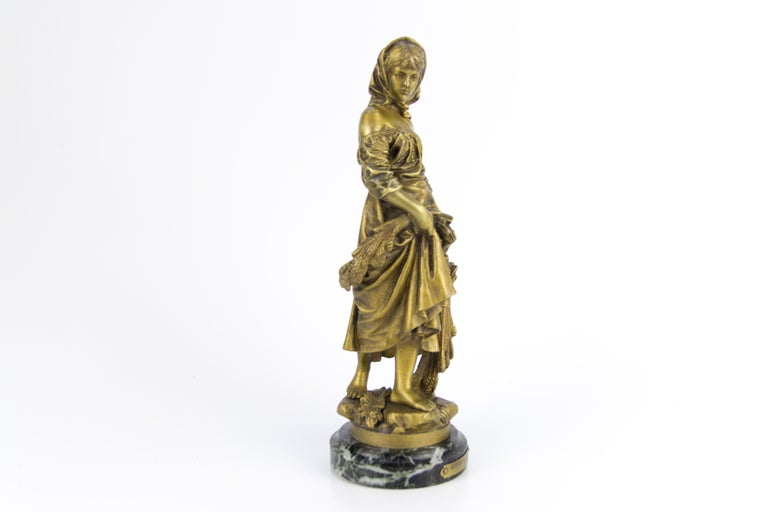 "French Bronze Figure ""Retour des Champs"" by Eutrope Bouret 10"