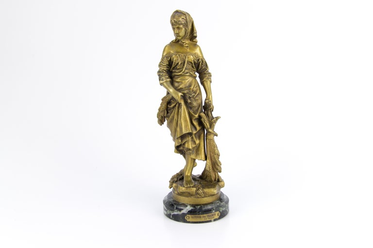 "French Bronze Figure ""Retour des Champs"" by Eutrope Bouret 15"