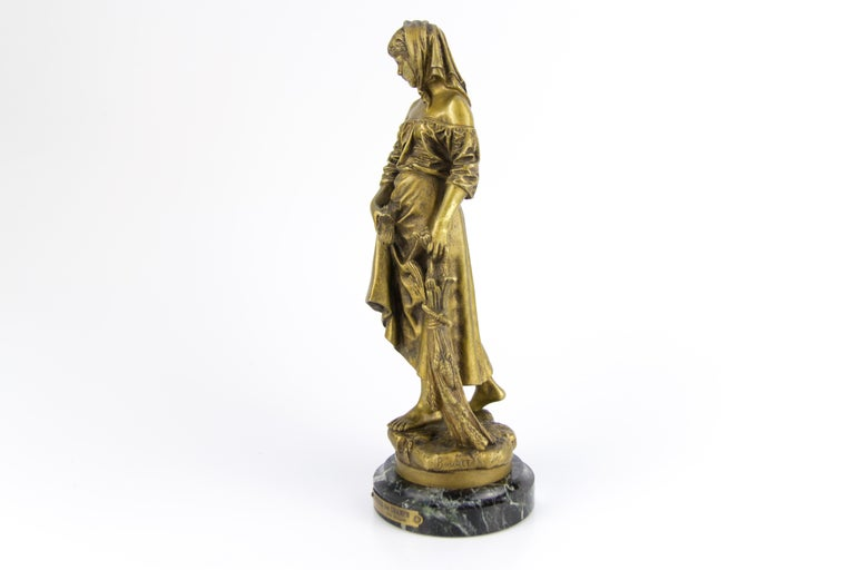 "Late 19th Century French Bronze Figure ""Retour des Champs"" by Eutrope Bouret For Sale"