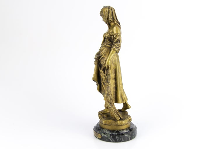 "French Bronze Figure ""Retour des Champs"" by Eutrope Bouret For Sale 1"