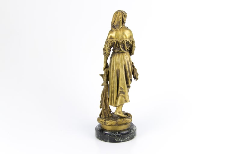"French Bronze Figure ""Retour des Champs"" by Eutrope Bouret 7"
