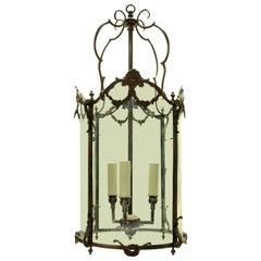 French Bronze Louis XVI Style Hanging Lantern