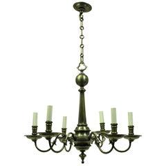 French Bronze Neo-Gothic Chandelier