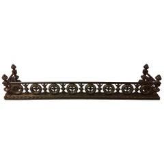 French Bronze Ornate Wreath Design Fender, 19th Century