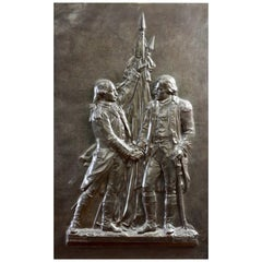 French Bronze Relief Plaque, Cast by Ferdinand Barbedienne for Hiolin