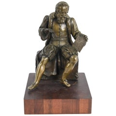 French Bronze Sculpture of Mathematician