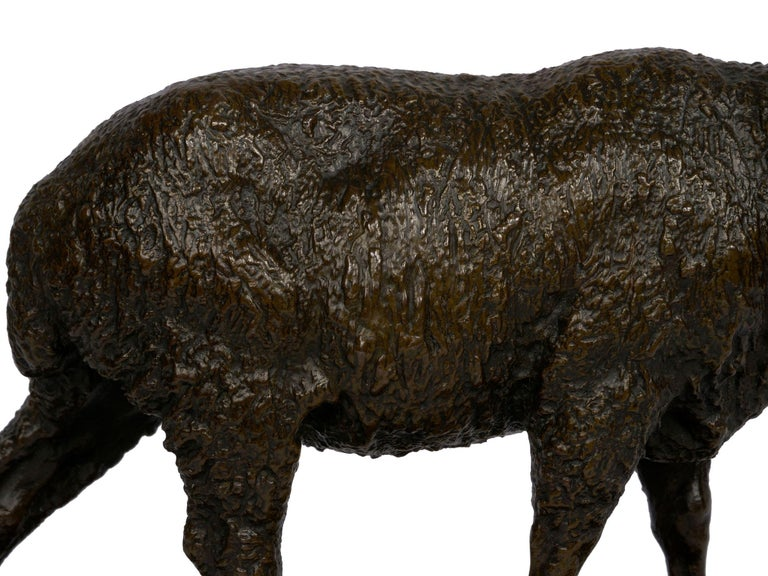 """French Bronze Sculpture of """"Merino Ewe"""" by Isidore Bonheur For Sale 8"""