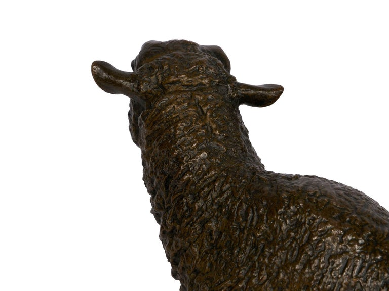 """French Bronze Sculpture of """"Merino Ewe"""" by Isidore Bonheur For Sale 5"""