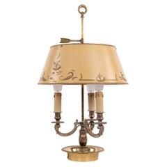 French Bronze & Tole Louis XV Style Bouillotte Lamp, 19th Century