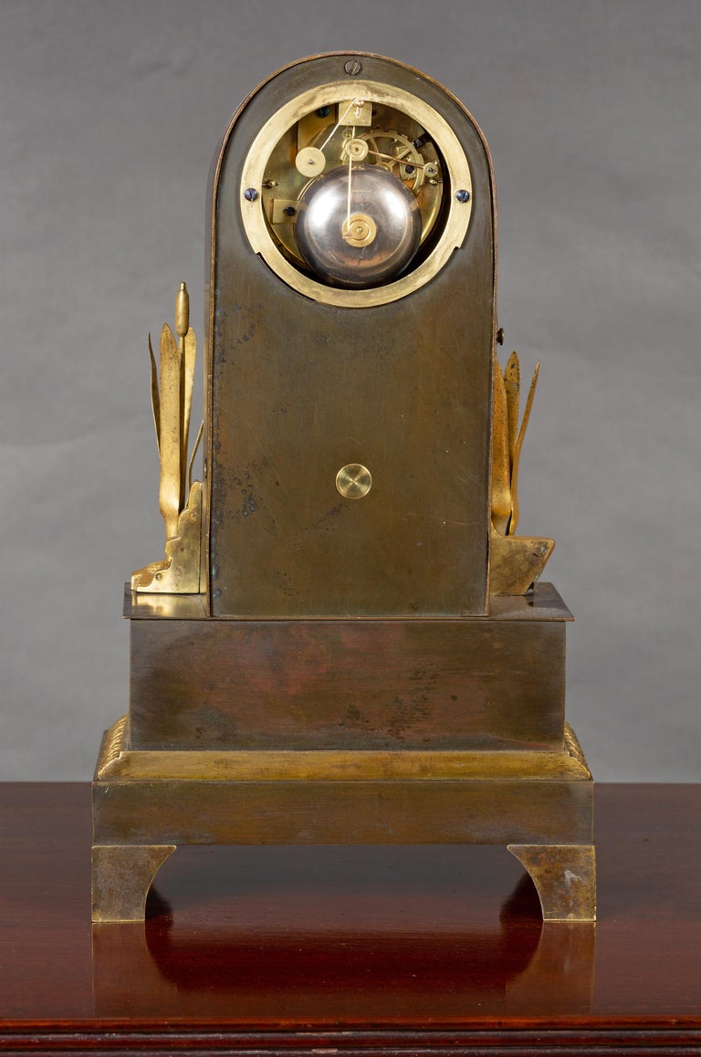 Charles X French Bronze Water Automation Clock by Leroy, Paris For Sale