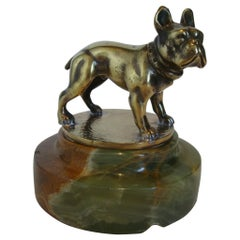 French Bulldog Bronze Desk Paperweight, Austria, 1920´s