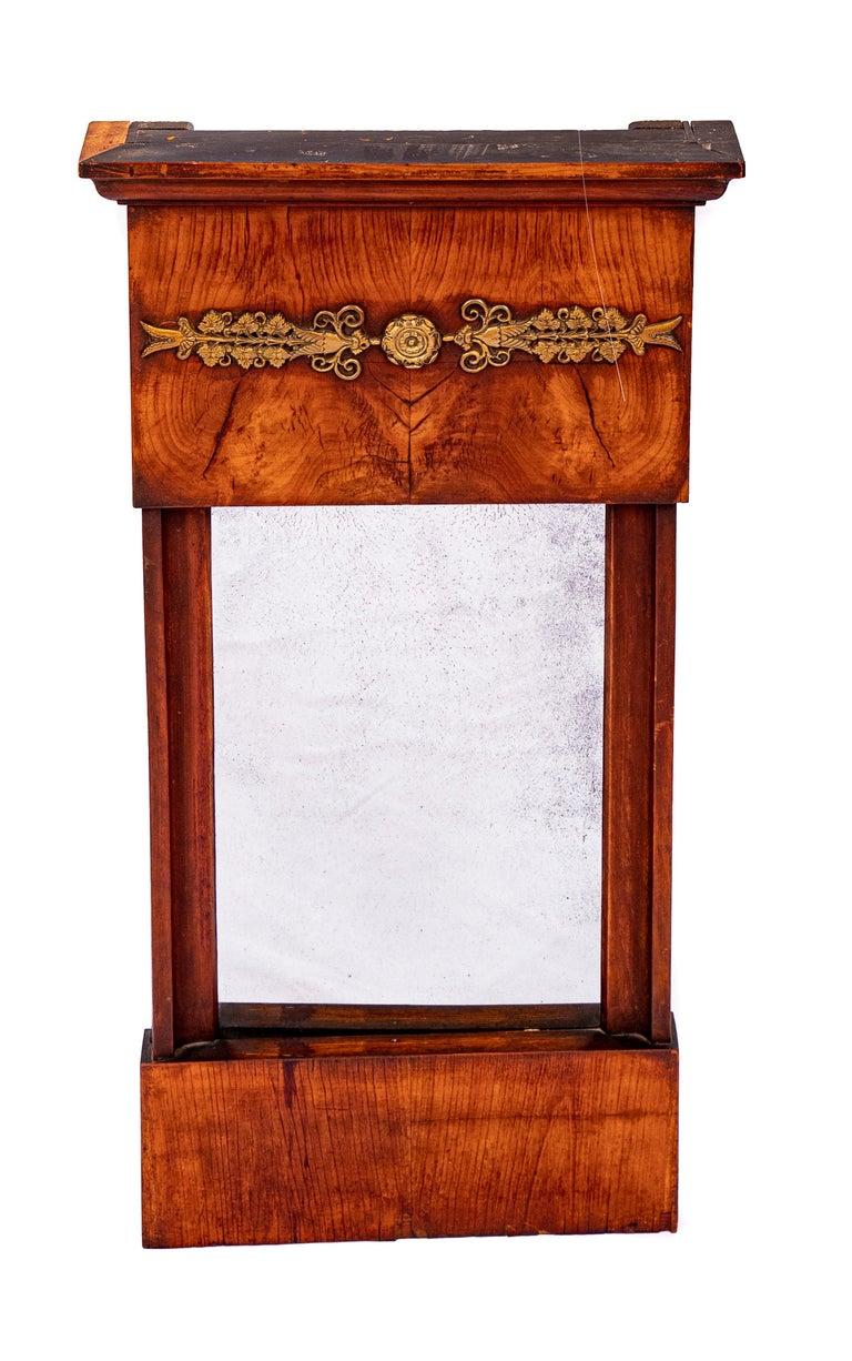 Federal French Burled Wall Mirror For Sale