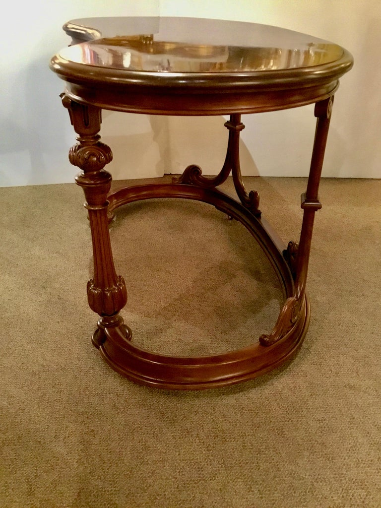 French Burl Wood Kidney Form Writing Desk, 19th Century For Sale 3