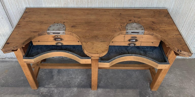 Wondrous French Jewery Bench Or Work Bench Table With Zinc Lined Drawers And Compartment Pdpeps Interior Chair Design Pdpepsorg
