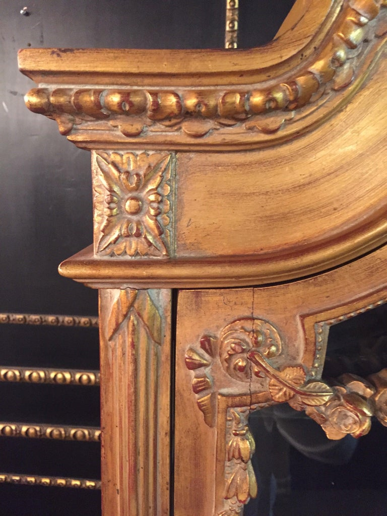 Hand-Carved French Cabinet in Louis XVI Style For Sale