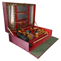 French Cabinet of Conjuring Tricks, Vintage Magic Show by J.L Paris