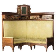 French Canape Art Nouveau, 19/20th Century