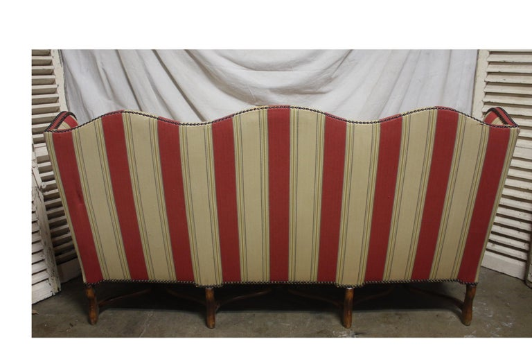 Walnut French Canape, Louis XIV Style For Sale