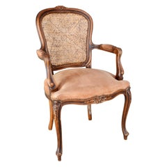 French Caned Back Fauteuil Armchair