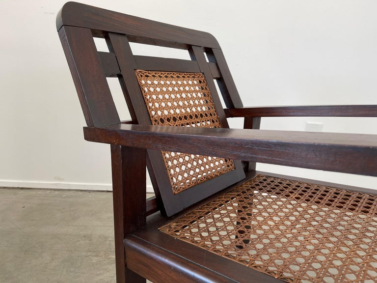 Mid-20th Century French Caned Chairs For Sale
