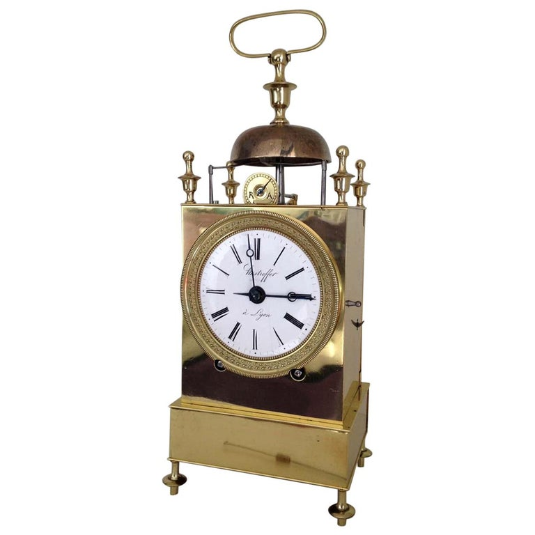 French Capucine Clock Circa 1820 Hastroffer a Lyon For Sale