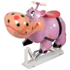 French Carousel Ride of Hippopotamus Form Seat