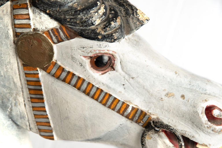 19th Century French Carousel Rocking Horse, circa 1885 For Sale