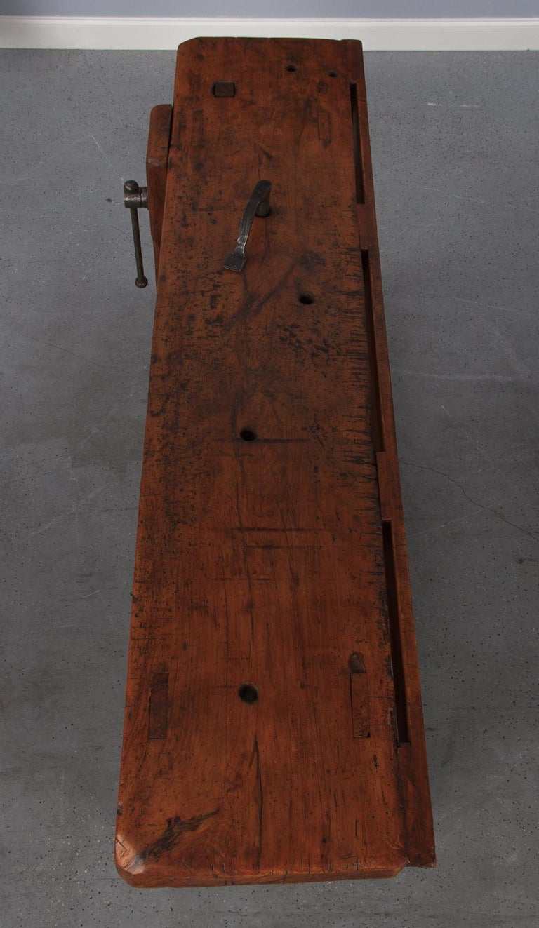 French Carpenter's Workbench in Beechwood, Dated 1919 For Sale 7