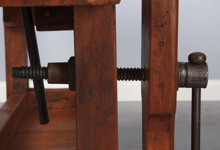French Carpenter's Workbench in Beechwood, Dated 1919 For Sale 11