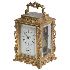 French Carriage Clock by H. Azur of Paris, circa 1890
