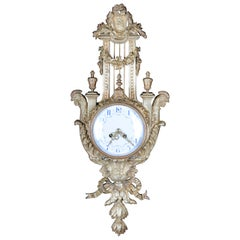 French Cartel Wall Clock in the Style of Louis XVI circa 1880, Bronze