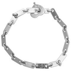 French Cartier Heart Lock Link Gold Bracelet