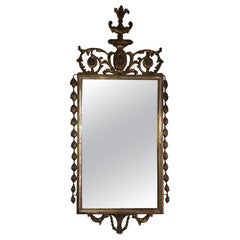 French Carved Giltwood Regency Mirror, Mid-20th Century