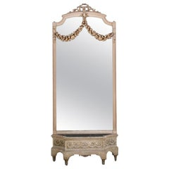 French Carved Louis XVI Mirror and Jardinière