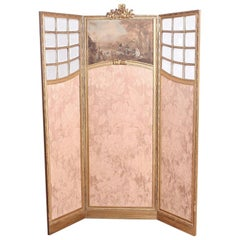 French Carved Louis XVI-Style Screen