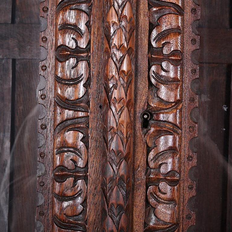 French Carved Oak Renaissance Revival Cabinet / Bookcase, C.1880 For Sale 6