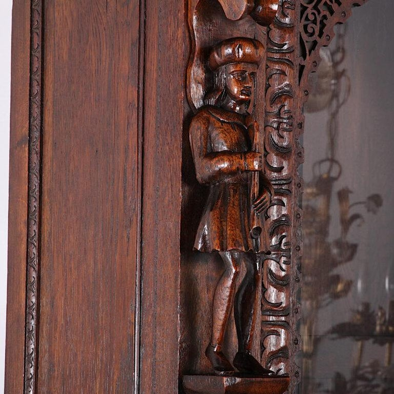 French Carved Oak Renaissance Revival Cabinet / Bookcase, C.1880 For Sale 3