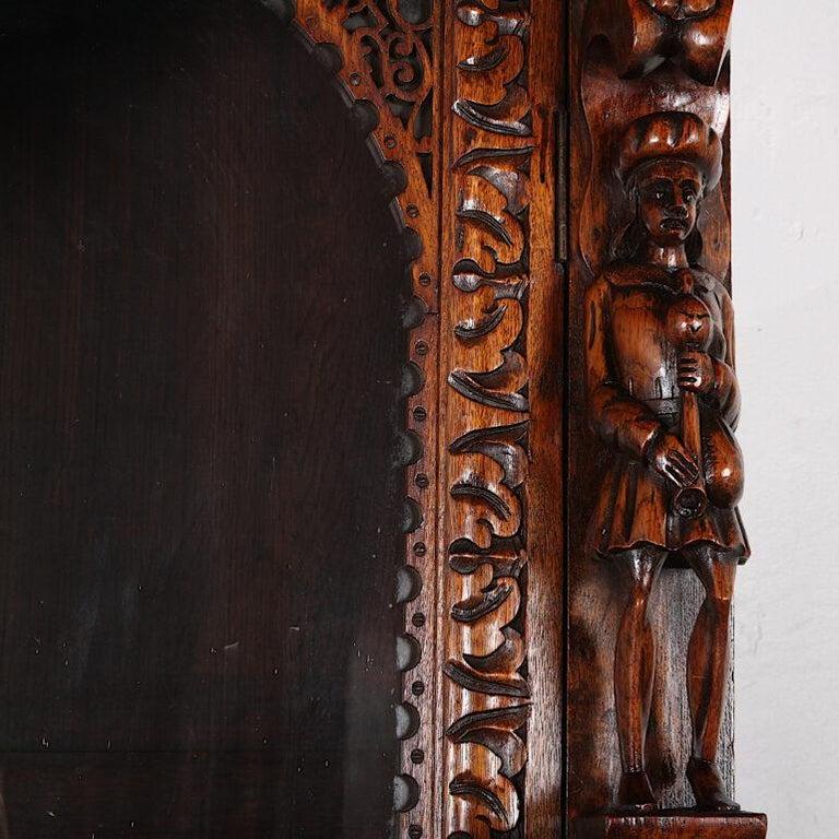 French Carved Oak Renaissance Revival Cabinet / Bookcase, C.1880 For Sale 5