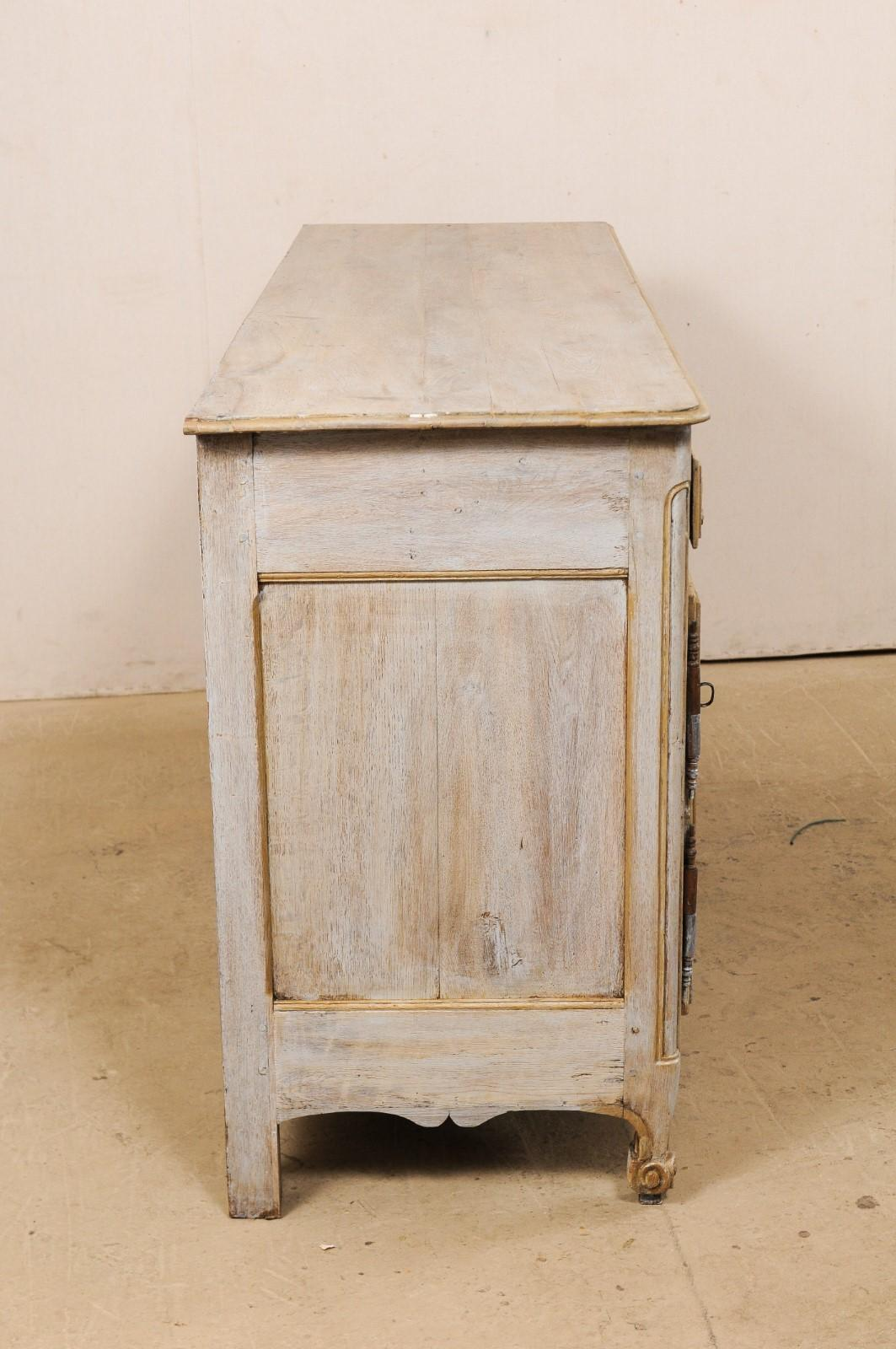 Picture of: French Carved And Painted Wood Long Buffet Cabinet Early 19th Century For Sale At 1stdibs