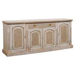 French Carved & Painted Wood Buffet Console, Turn 19th/20th C.