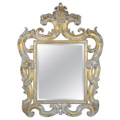 French Carved Rococo Style Giltwood Mirror