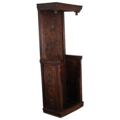 French Carved Walnut Bishop's Chair