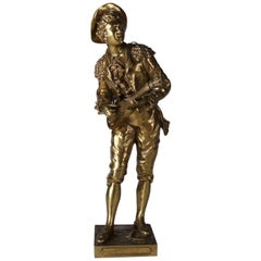 "French Cast Bronze Sculpture ""Figaro"" after Charles Anfrie, Italy, 20th Century"