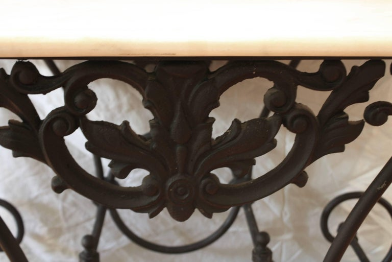 French Cast Iron and Marble Baker's Table For Sale 4