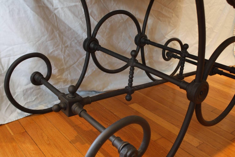 French Cast Iron and Marble Baker's Table For Sale 2