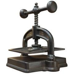 French Cast Iron Book Press, circa 1880