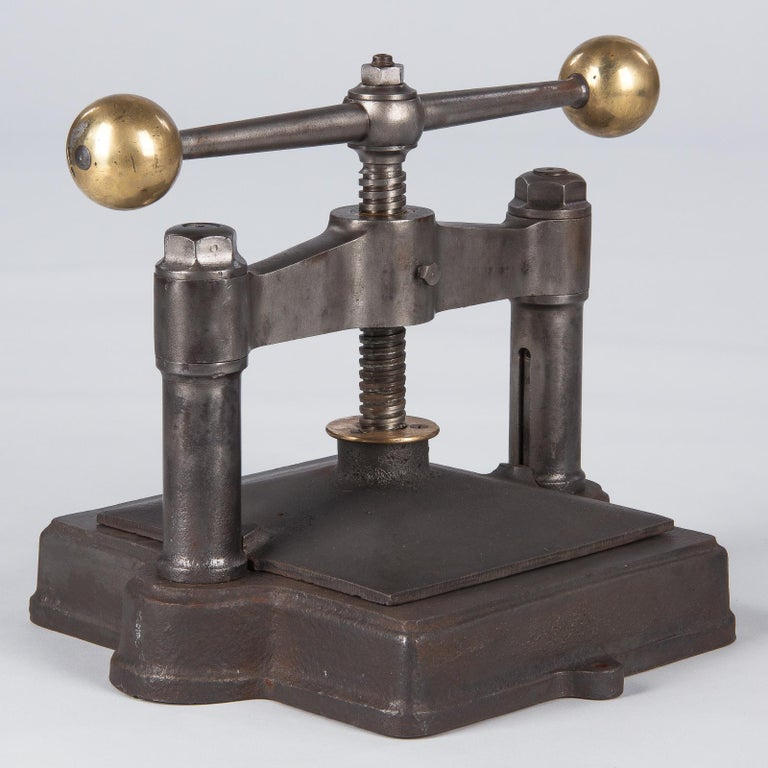 French Cast Iron Book Press, Early 1900s For Sale 8