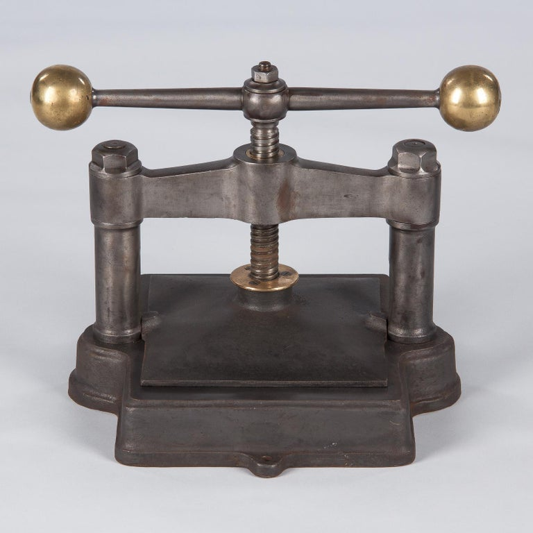 French Cast Iron Book Press, Early 1900s For Sale 10