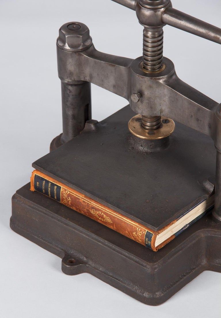 French Cast Iron Book Press, Early 1900s For Sale 12
