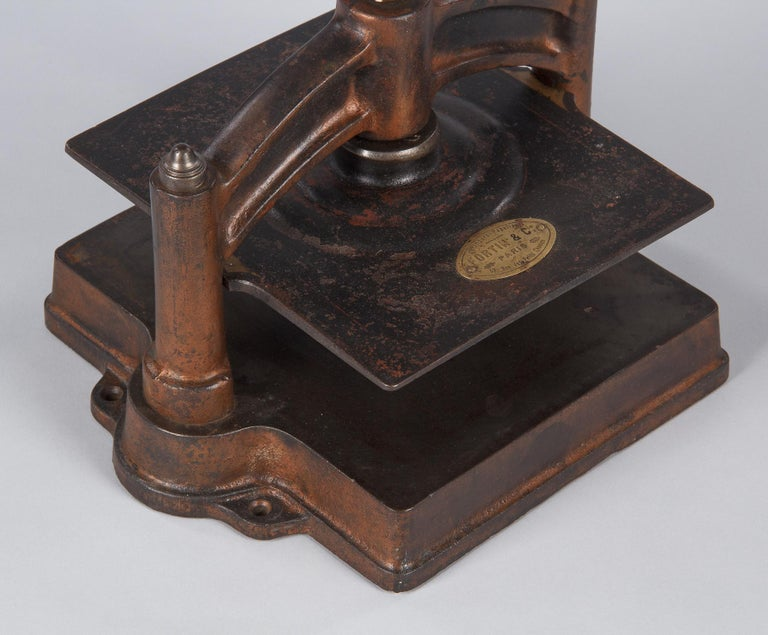 French Cast Iron Book Press, Fortin & Co, Early 1900s For Sale 1